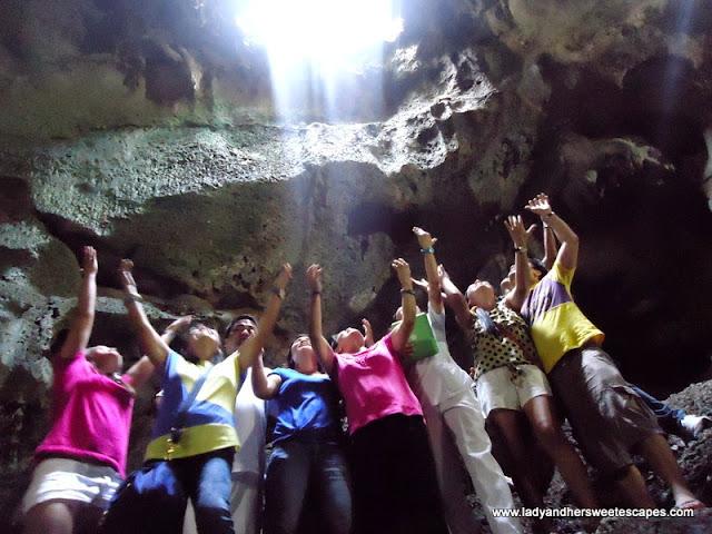 light inside Hinagdanan Cave Panglao Bohol