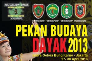 Pekan Budaya Dayak  2013