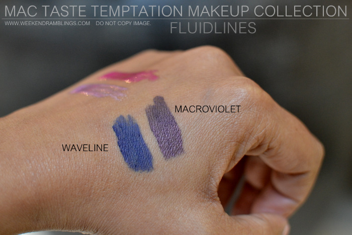 MAC Taste Temptation Makeup Collection Holiday Gifts Christmas Darker Indian Skin Swatches Beauty Blog Fluidlines Waveline Macroviolet