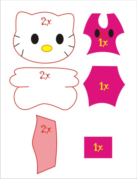 ... mudah, sobat semua dapat mengopi pola boneka hello kitty milik saya