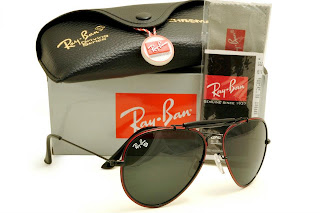 Rayban Diamond Hard Frame Black with Red Lens Black