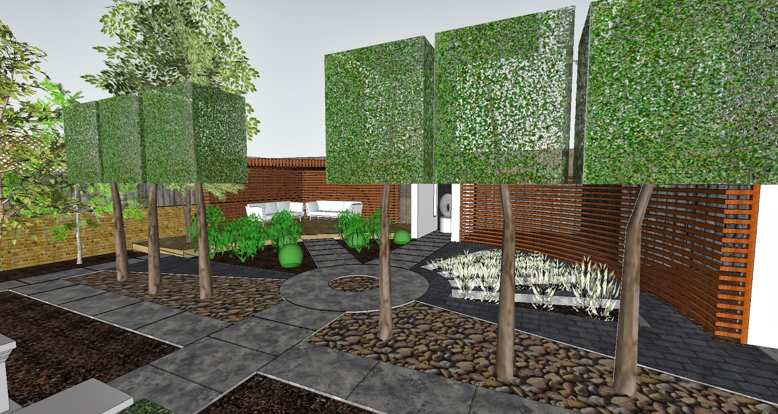 Garden Design Visualisation with Custom Texture Maps Studio 425