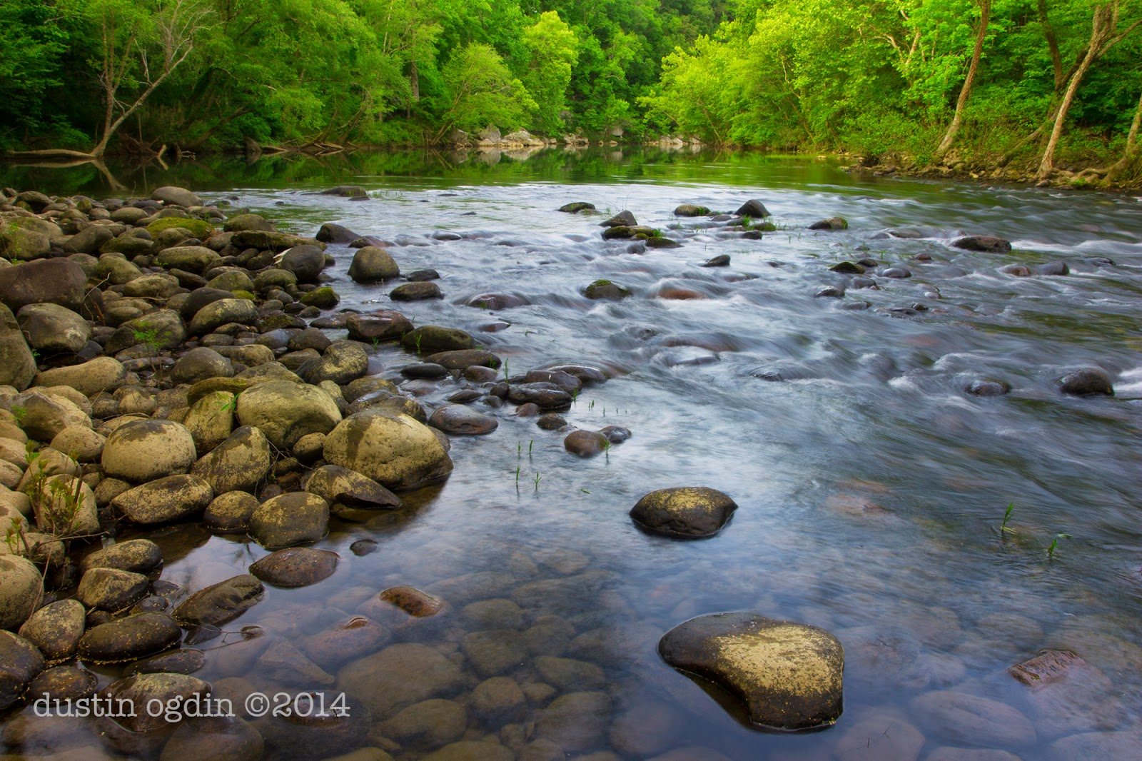 Caney Fork River by Virgin Falls campsite