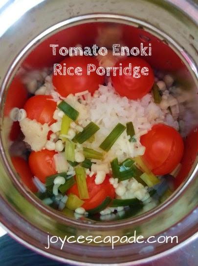 Tomato enoki rice porridge cooked in zojirushi thermal food jar tomato enoki rice porridge cooked in zojirushi thermal food jar second trial forumfinder Gallery