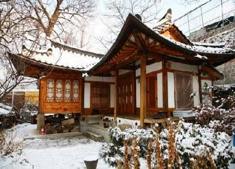 Hanok Houses from Bukchon Hanok Village in Seoul, Korea
