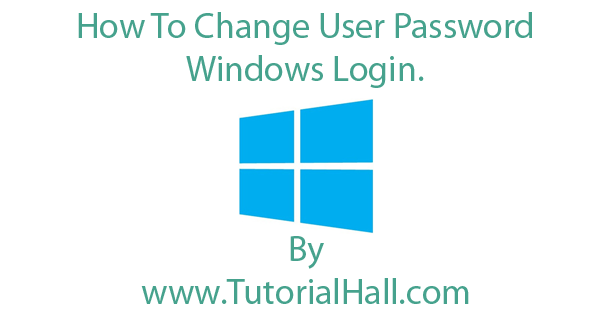 change windows log on password