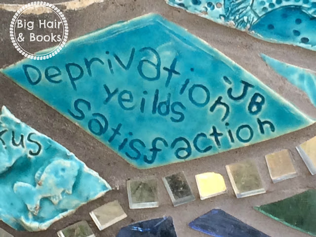 Tile from the mosaic wall at Deep Eddy - Austin, Texas #ATX #travel #art #encouragement
