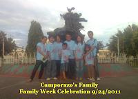 Camporazo's family at public plaza