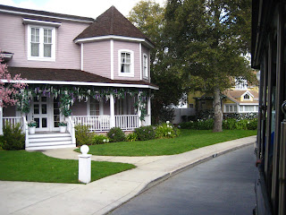Wisteria Lane of Desperate Housewives, the purple house used to be the Munster house.