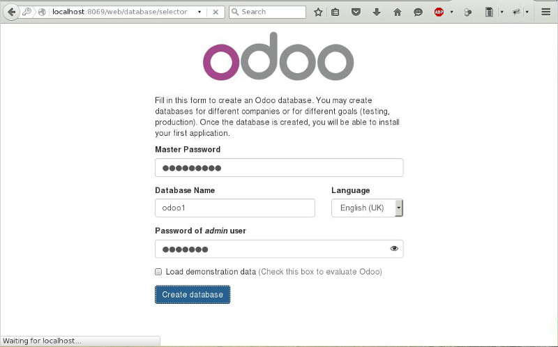 how to run an odoo server