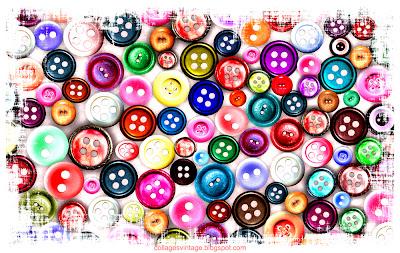 botones vintage fondo retro