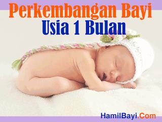 Tahapan Perkembangan Bayi Usia 1 Bulan