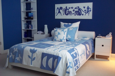 The colour junction so what is colour psychology - Blue and white bedroom paint ideas ...