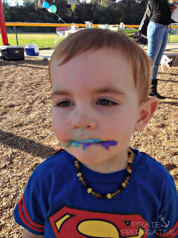 SuperToddler takes on Kryptonite face first with no fear.