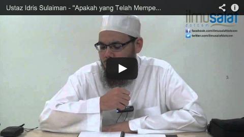 """Ustaz Idris Sulaiman – """"Apakah yang Telah Memperdayakanmu Sehingga Kamu Berbuat Derhaka?"""""""