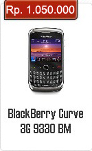 Spesifikasi Dan Harga BlackBerry Curve 3G 9330
