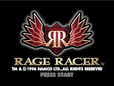 Rage Racer title screen