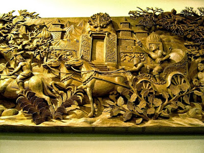3d relief carving typical of Jepara