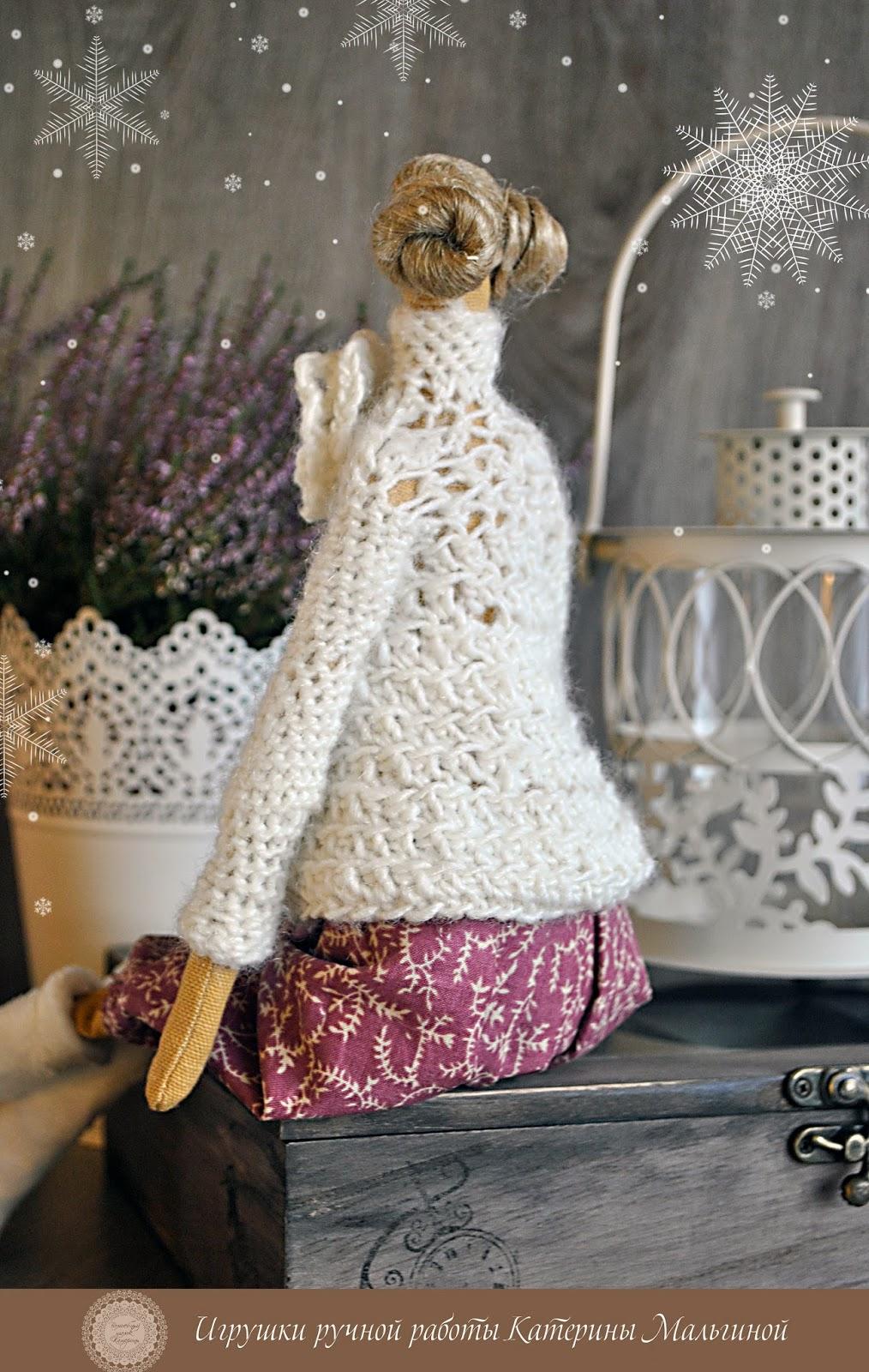 Тильда зимняя в свитере