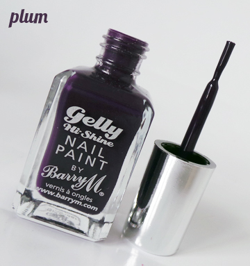 Review - Barry M Gelly Hi Shine Nail Paint - Plum