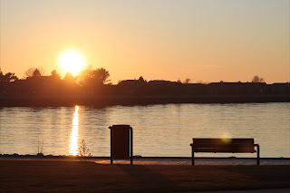 Sunset over PM lake