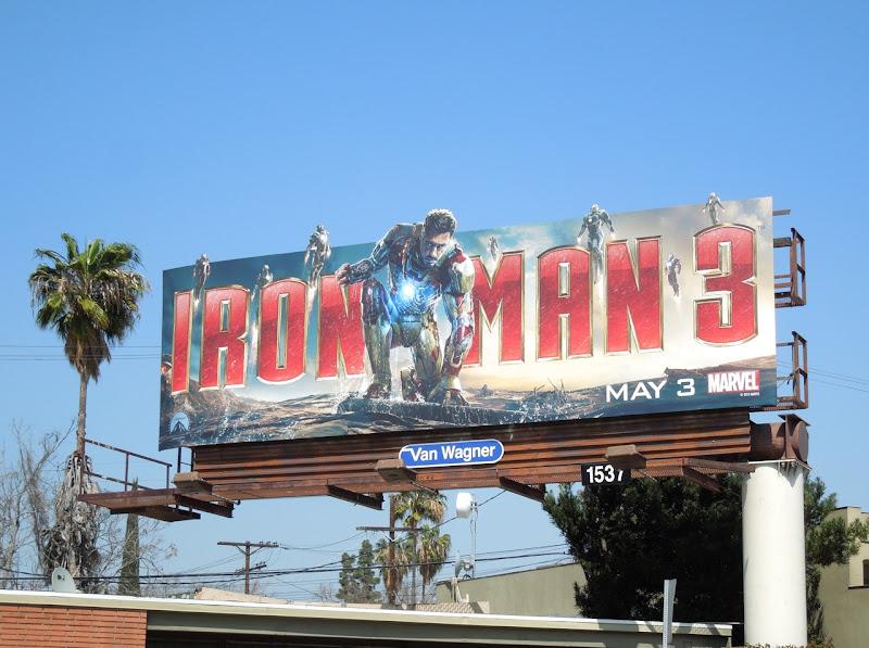 Iron Man 3 movie billboard