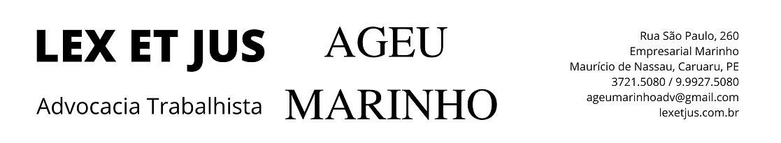 LEX ET JUS | Ageu Marinho Advocacia Trabalhista