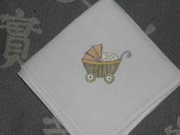 Fralda de pano pintada à mão Ref.:0036