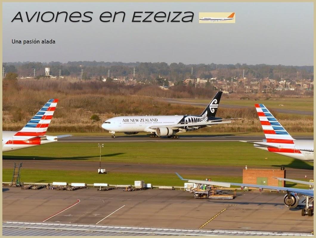 Aviones en Ezeiza