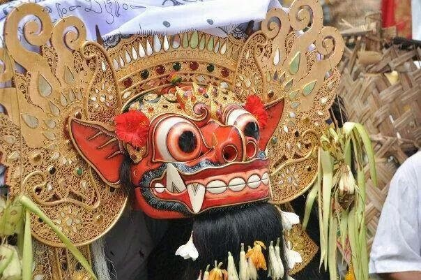 Barong mask, Balinese dance, Indonesia