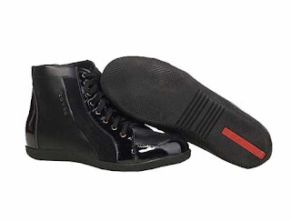 prada Leather Lace up Shoes