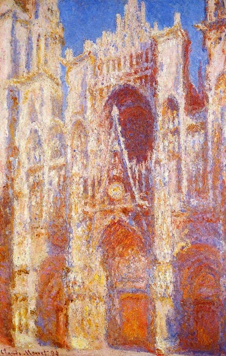 Claude Monet Rouen Cathedral,  the Portal in the Sun.