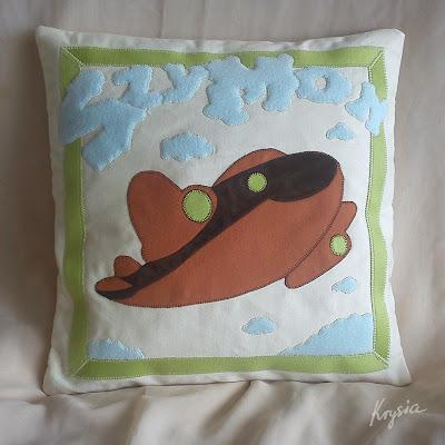 poduszka personalizowana z samolotem