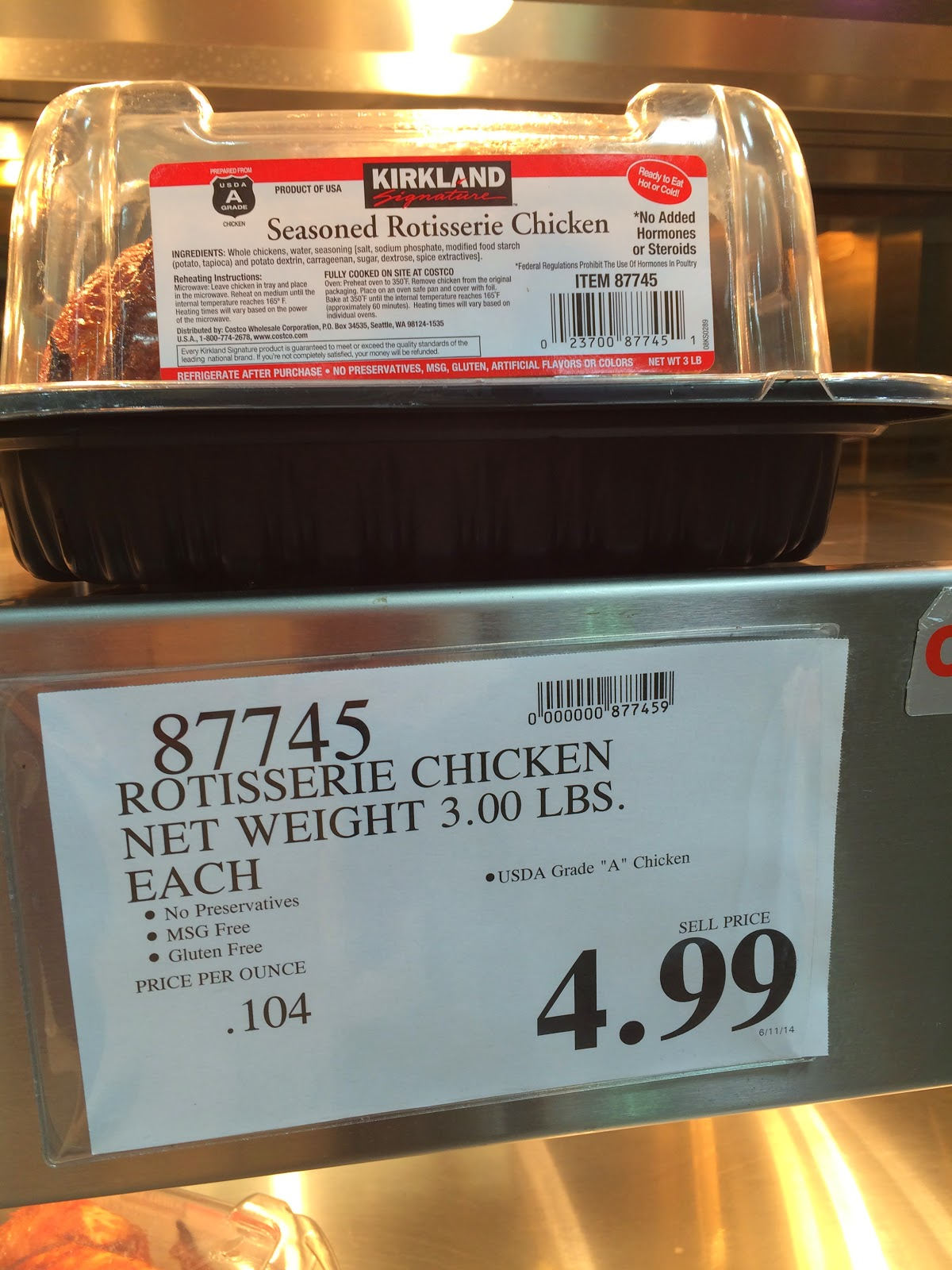 Do you really know what you 39 re eating a flock of for Costco rotisserie chicken ingredients