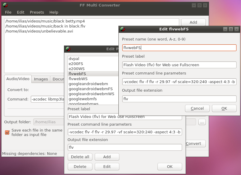 Convertidor de formatos todoterreno, convertir archivos ubuntu facil,