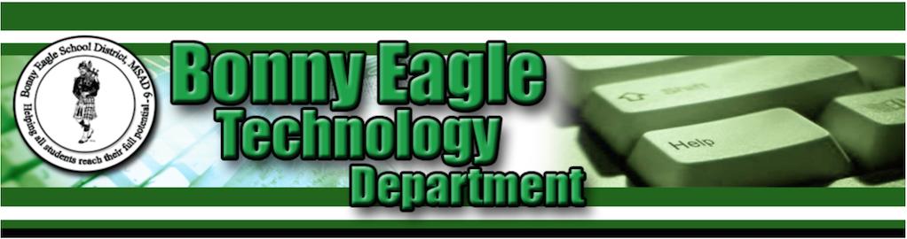 Bonny Eagle Technology Department