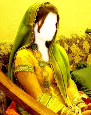 Pakistani Mehndi Dress Design 2012