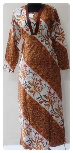 Update New Model Baju Gamis Batik Untuk Wanita Modern