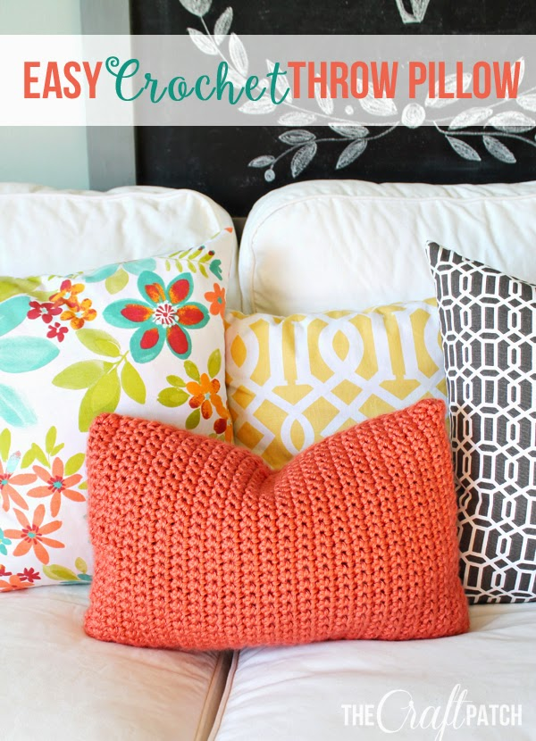 Easy Crochet Throw Pillow Thecraftpatchblog Com