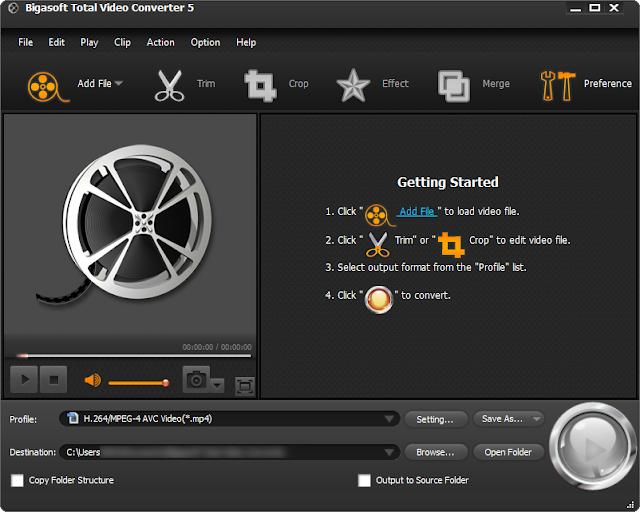 Get Bigasoft Total Video Converter Serial