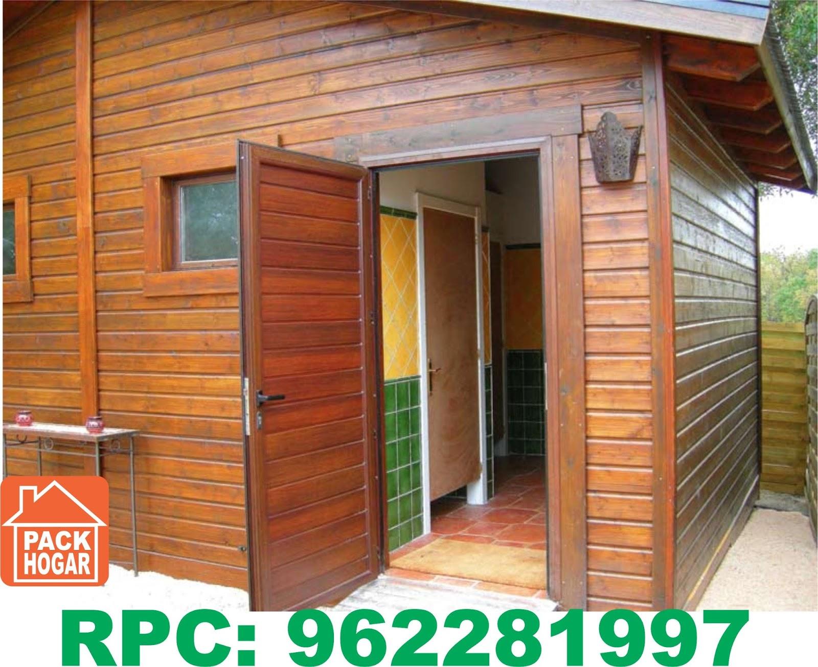 Casetas cuartos habitables prefabricadas de madera lima for Puertas prefabricadas