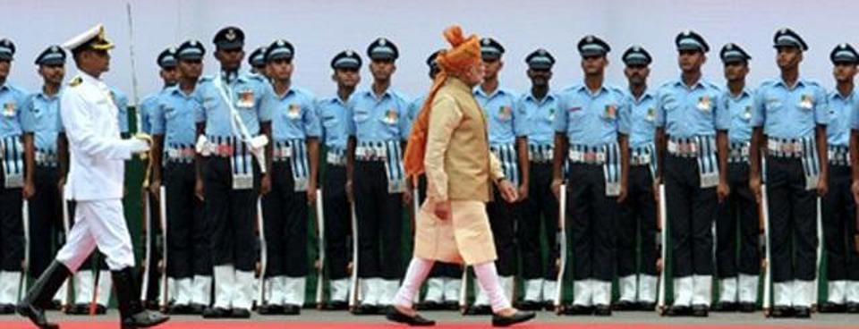 Prime Minister Modi Inspecting Guard of Honour