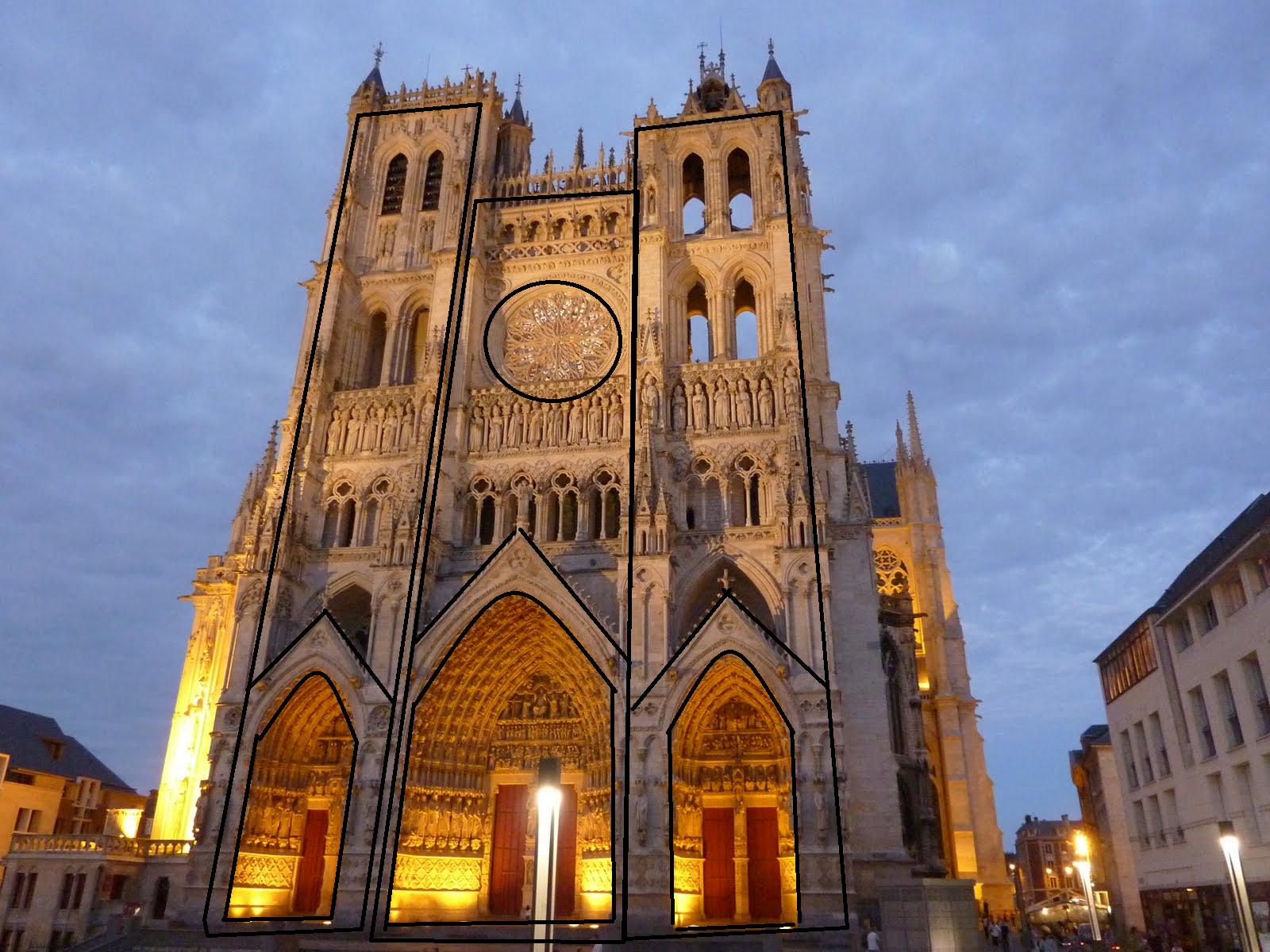 Arquitectura medieval geometria de fachada y planta for Arquitectura medieval