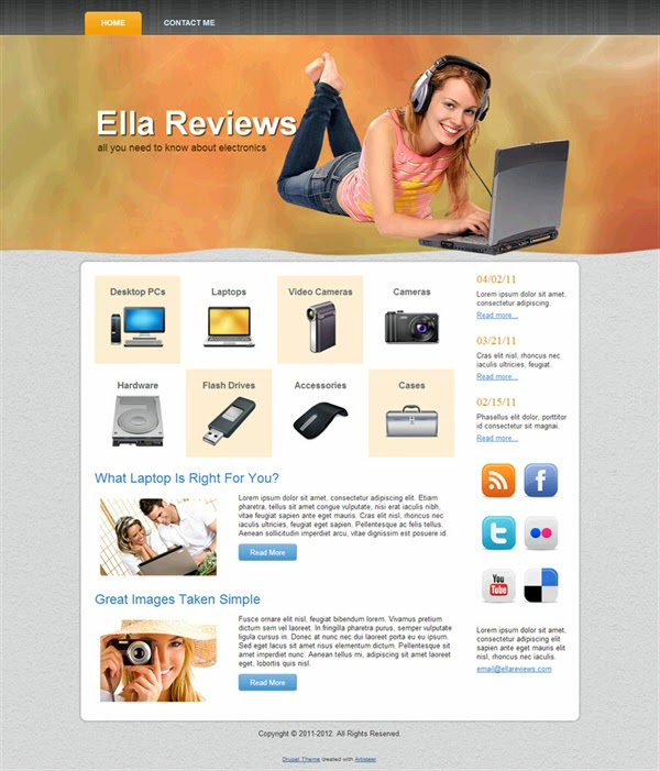 Ella Reviews - Free Drupal Theme