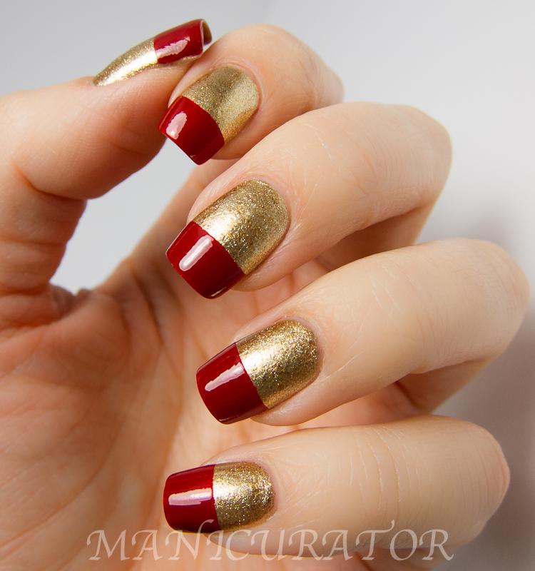 Elegant Christmas Nail Art: Manicurator: Elegant French Tips, Simple Nail Art With
