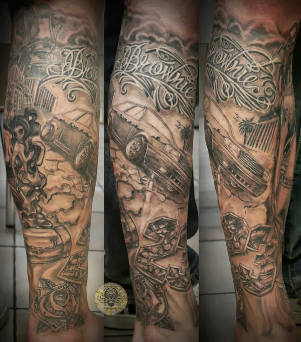 Gangster Tattoos Sleeves