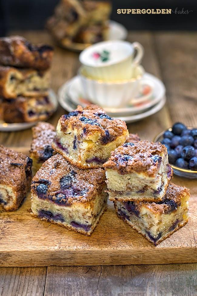 Blueberry Cheesecake Crumb Cake | supergolden bakes