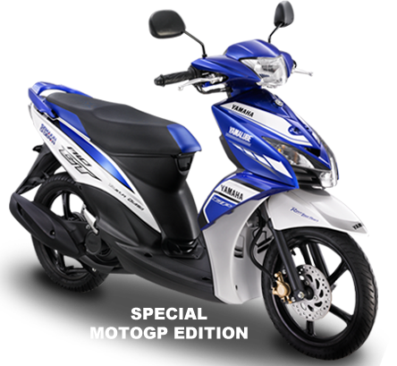 Top modifikasi mio gt biru putih