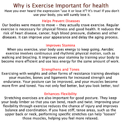 article about exercise and health