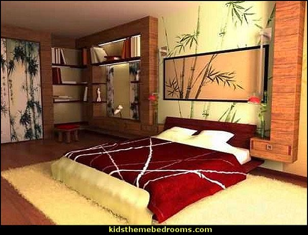 Asian orient bedding decoration design